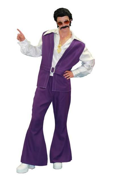 Purple Vest and Pants Disco Male in Theatrical Costumes from BuffaloBreath at Buffalo Breath Costumes