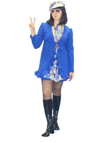 Go-Go Blue Floral Dress in Theatrical Costumes from BuffaloBreath at Buffalo Breath Costumes