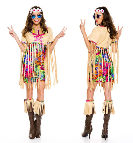 Retro Hipster 1960s hippie woman costume