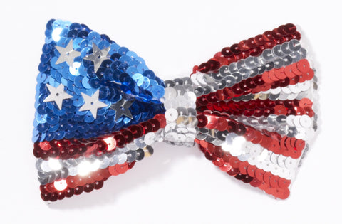 U.S. Flag Sequin Bowtie by Forum Novelties at Buffalo Breath Costumes