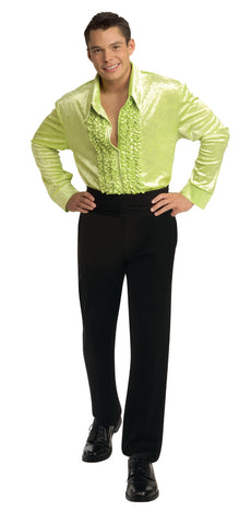 Velvet Disco Shirt Green by Rubie's 7265 at Buffalo Breath Costumes
