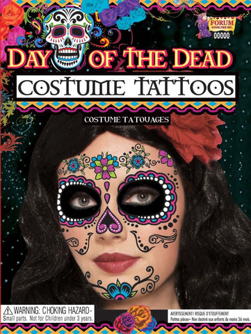 Day of the Dead Costume Tattoos