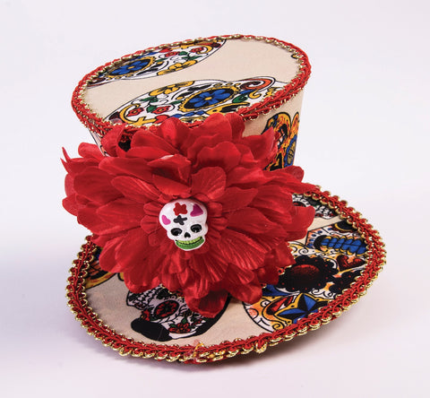 Day of the Dead Mini Hat by Forum Novelties at Buffalo Breath Costumes