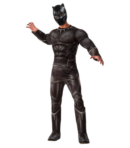 Black Panther superhero costume by Rubie's at Buffalo Breath Costumes