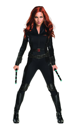 Marvel Avengers Black Widow superhero costume by Rubie's 810973 at Buffalo Breath Costumes