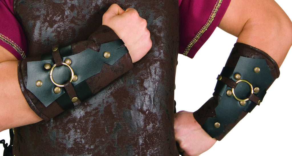 Roman Arm Guards in Accessories from RUBIES at Buffalo Breath Costumes