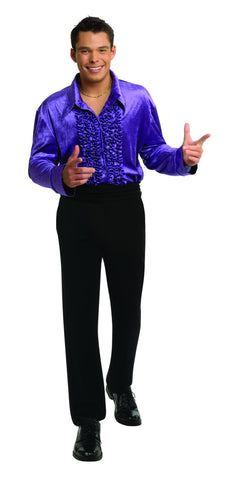 Velvet Disco Shirt-Purple in Packaged Costumes from RUBIES at Buffalo Breath Costumes