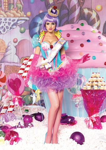 Cupcake Queen deluxe costume by Leg Avenue DX83886 at Buffalo Breath Costumes