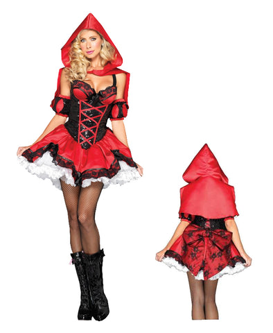 Miss Riding Hood deluxe costume by Leg Avenue DX83887 at Buffalo Breath Costumes