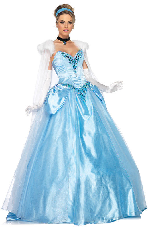 Deluxe Cinderella costume by Leg Avenue DP85058 at Buffalo Breath Costumes
