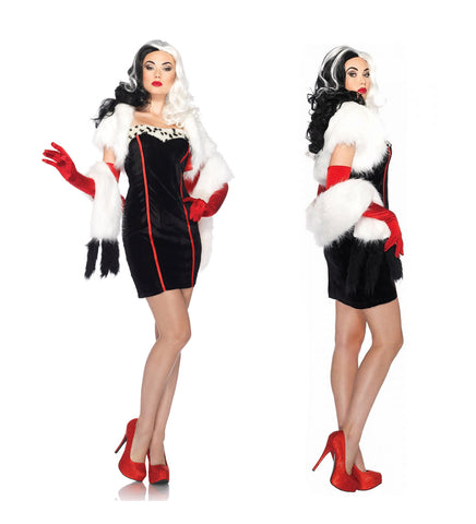 Cruella costume by Leg Avenue DP85076 at Buffalo Breath Costumes
