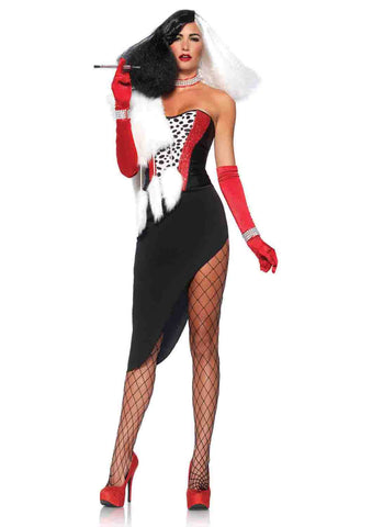Cruel Diva cruella costume by Leg Avenue 85396 at Buffalo Breath Costumes
