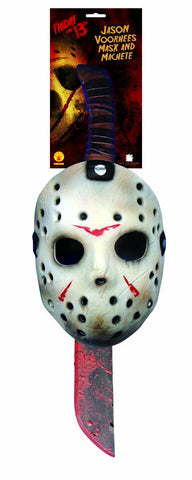 Friday the 13th Jason Vorhees Mask and Machete by Rubie's 8785 at Buffalo Breath Costumes in San Diego
