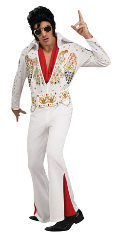 Elvis Presley white jumpsuit costume by Rubie's 889050 at Buffalo Breath Costumes