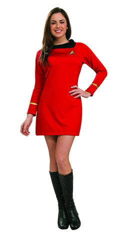Star Trek Uhura red costume dress by Rubie's  at Buffalo Breath Costumes