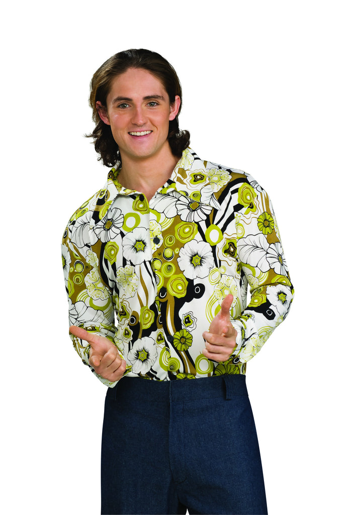 Groovy Shirt - Green by Rubie's at Buffalo Breath Costumes