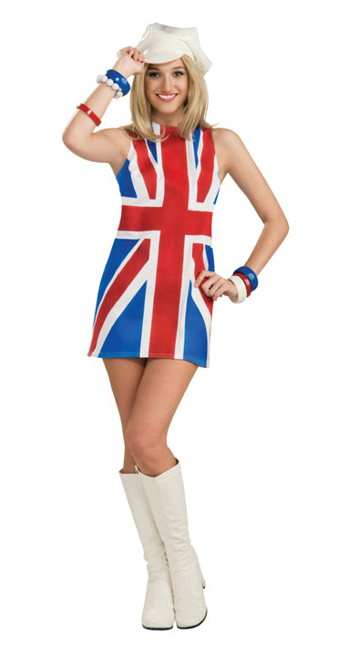British Invasion mod dress and hat by Rubie's 889703 at Buffalo Breath Costumes