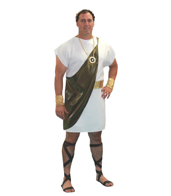 Toga (White/Gold) in Theatrical Costumes from BuffaloBreath at Buffalo Breath Costumes