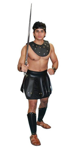 Sexy Gladiator (black) in Theatrical Costumes from BuffaloBreath at Buffalo Breath Costumes