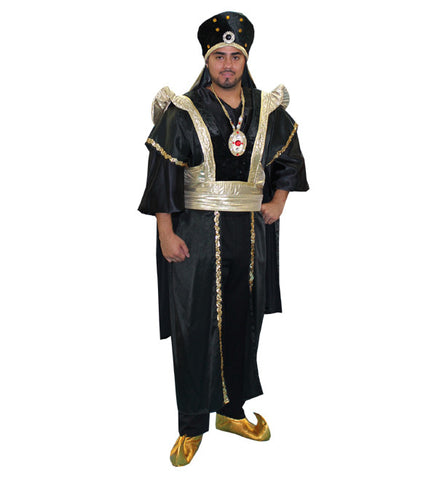 Arabian Black and Gold Prince in Theatrical Costumes from BuffaloBreath at Buffalo Breath Costumes