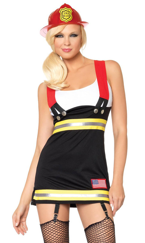 Backdraft Babe sexy female firefighter costume by Leg Avenue at Buffalo Breath Costumes