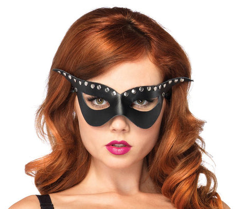 Bad Girl Studded Mask by Leg Avenue A1682 at Buffalo Breath Costumes