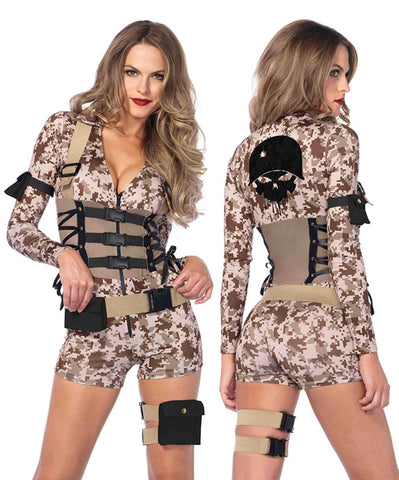 Battlefield Babe sexy military uniform costume by Leg Avenue 85542 at Buffalo Breath Costumes