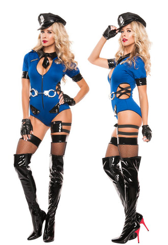 Bust Me Cop secy police officer costume by Starline at Buffalo Breath Costumes