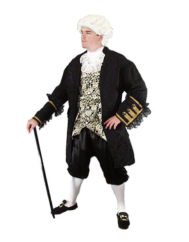 Nobleman colonial era deluxe costume rental or purchase at Buffalo Breath Costumes in San Diego