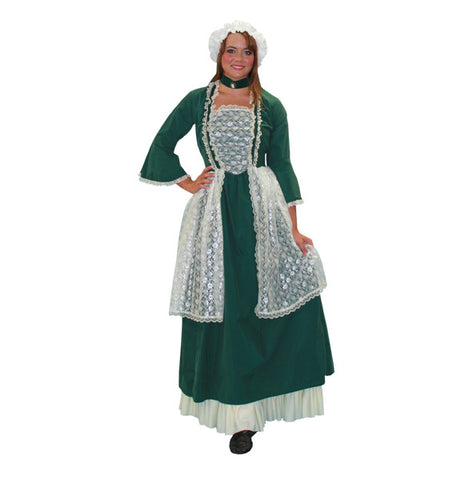 Dolly Madison Green Dress in Theatrical Costumes from BuffaloBreath at Buffalo Breath Costumes