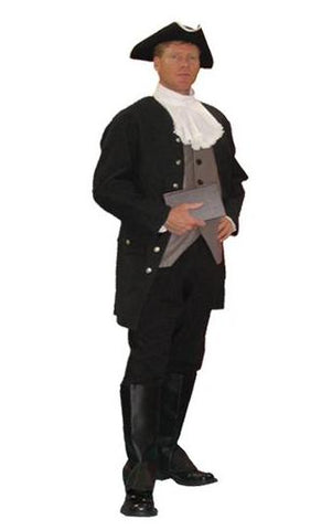 Samuel Adams 1776 colonial era founding father deluxe costume rental or purchase at Buffalo Breath Costumes in San Diego