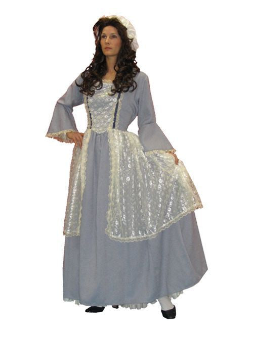 Abigail Adams colonial woman dress for rent from Buffalo Breath Costumes