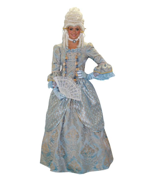 Marie Antoinette (Lt. Blue) in Theatrical Costumes from BuffaloBreath at Buffalo Breath Costumes