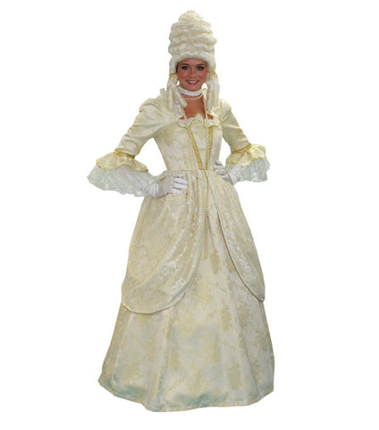 Marie Antoinette (cream/gold) in Theatrical Costumes from BuffaloBreath at Buffalo Breath Costumes