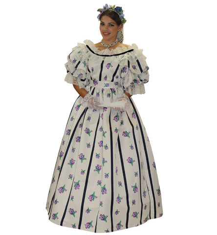 Mary Todd Lincoln civil war era costume rental or purchase in Theatrical Costumes at Buffalo Breath Costumes in San Diego