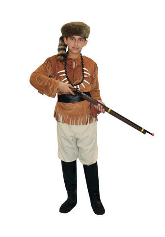 Davy Crockett Or Daniel Boone Child in Theatrical Costumes from BuffaloBreath at Buffalo Breath Costumes