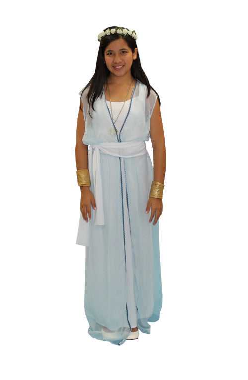 Ancient History Child- Greek/Roman Lt. Blue in Theatrical Costumes from BuffaloBreath at Buffalo Breath Costumes