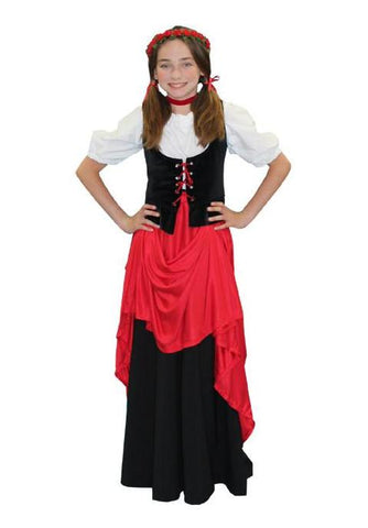 Oktoberfest Girl child size deluxe German costume rental or purchase at Buffalo Breath Costumes