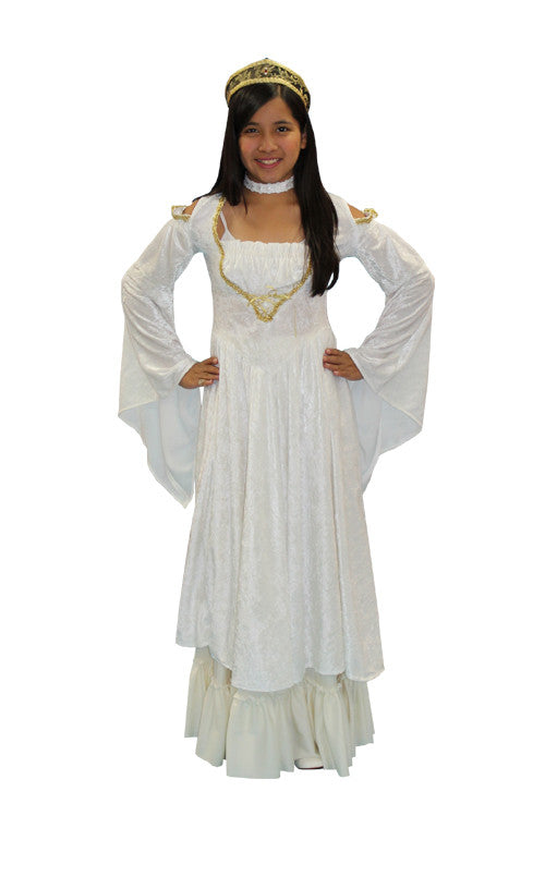 Princess (White) (child) in Theatrical Costumes from BuffaloBreath at Buffalo Breath Costumes