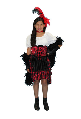 Dance Hall Gal Child in Theatrical Costumes from BuffaloBreath at Buffalo Breath Costumes