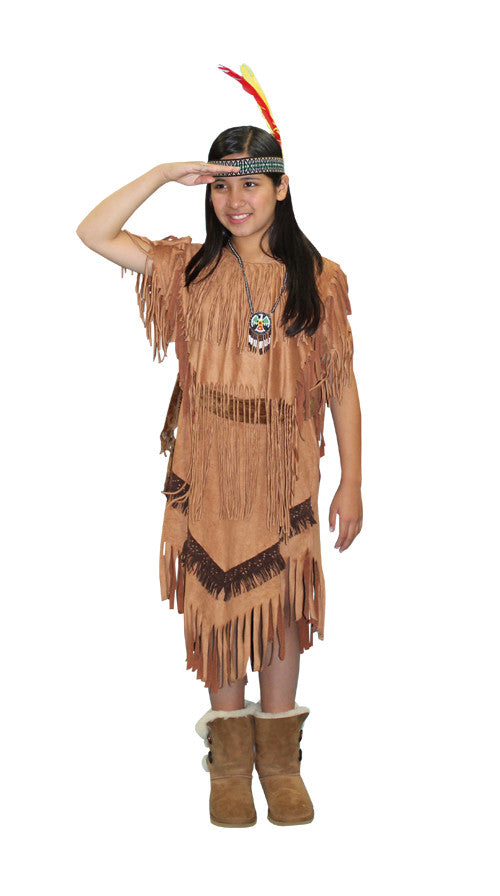 Sacagawea (child) in Theatrical Costumes from BuffaloBreath at Buffalo Breath Costumes