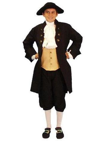 1776 American Revolutionary Founding Father child size costume rental at Buffalo Breath Costumes in San Diego