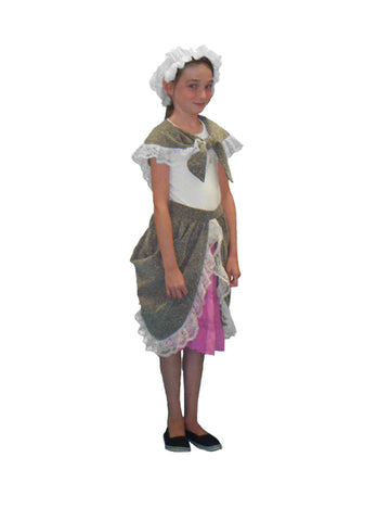Colonial Girl partial costume rental at Buffalo Breath Costumes