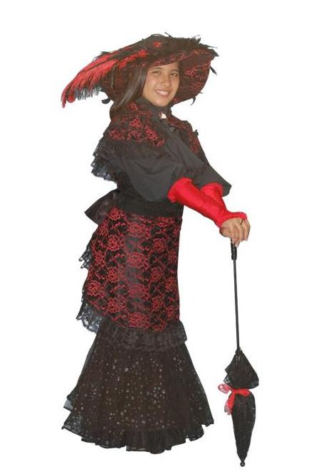 My Fair Lady (child blk/red) in Theatrical Costumes from BuffaloBreath at Buffalo Breath Costumes