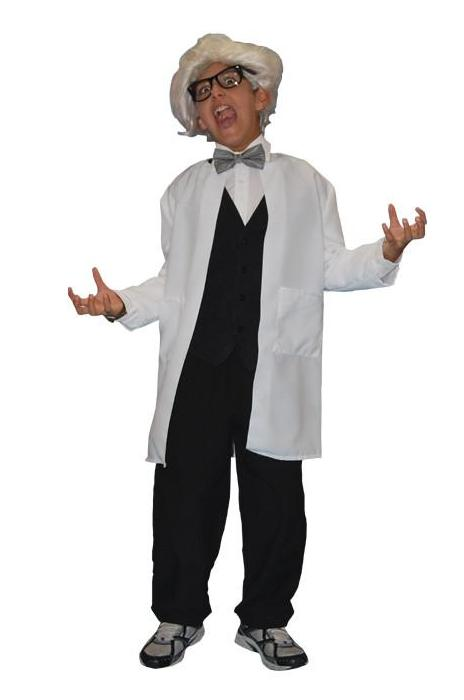 Mad Scientist Child in Theatrical Costumes from BuffaloBreath at Buffalo Breath Costumes