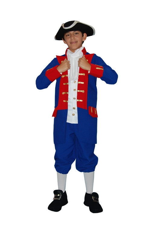 Continental Army Soldier Child in Theatrical Costumes from BuffaloBreath at Buffalo Breath Costumes