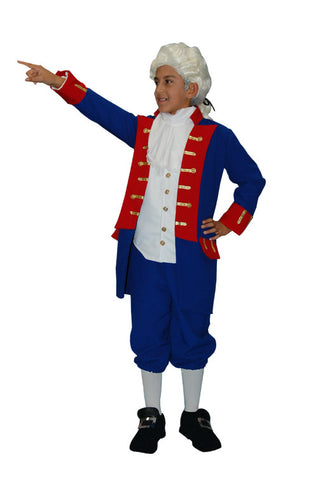 Continental Army General Child in Theatrical Costumes from BuffaloBreath at Buffalo Breath Costumes