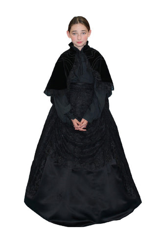 Mary Todd Lincoln (child) in Theatrical Costumes from BuffaloBreath at Buffalo Breath Costumes