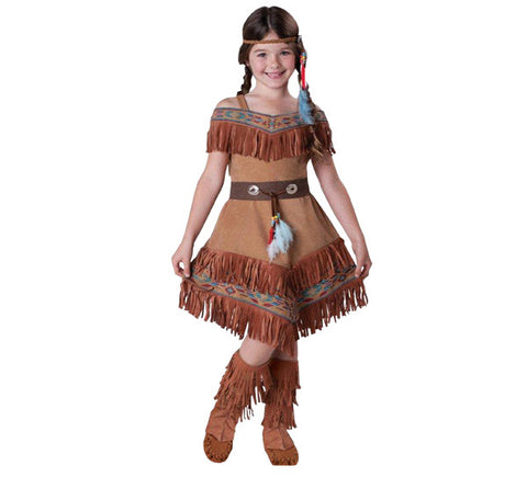 Indian Maiden Pocahontas girls costume rental or purchase at Buffalo Breath Costumes