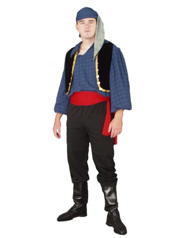 Male Gypsy/Pirate deluxe costume rental or purchase at Buffalo Breath Costumes in San Diego
